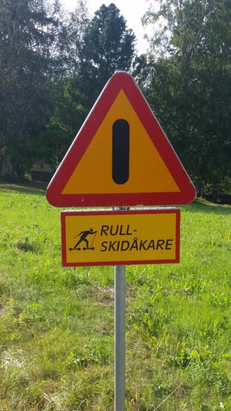 Rullskidskytte SM Sollefteå - Vägskylt